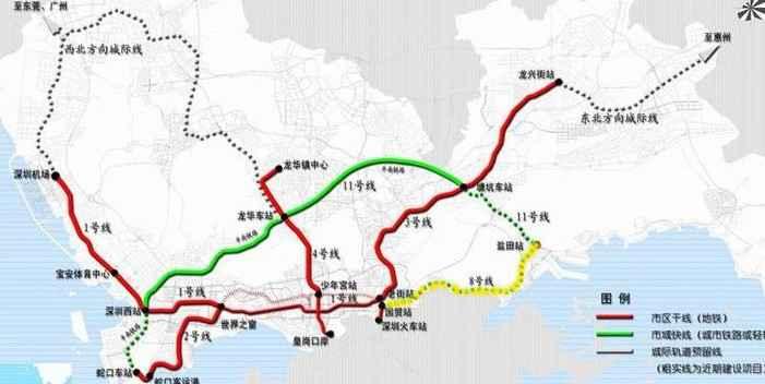 深圳地铁8号线规划线路图