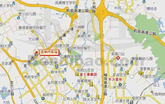 龙华汽车站交通地图